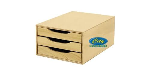 Arquivos e Lixeiras em madeira